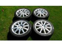 Mercedes clk 280 alloys, wheels with tyres staggered 5x112 audi vag vw stance
