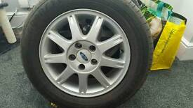 Ford alloys + tyres