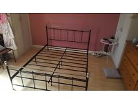 Metal king sized bed frame good condition