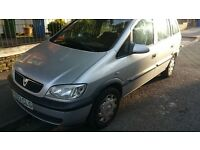 7SEATER ZAFIRA 1.6 PETROL, PERFECT FAMILY CAR, taxed and tested and insured to drive away!!! CHEAP