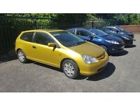 12 Months MOT, Economical Honda Civic Will not be disappointed! 4 previous owners Well Maintained