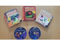 5 Children's Audio books: 3 x How to Train your Dragon; 2 x Astrosaurs
