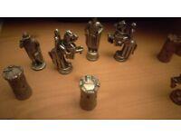 old chess set no board