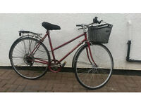 LADIES RALEIGH TOWN BIKE WITH BASKET £70