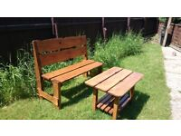Garden bench plus coffee table