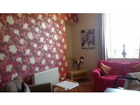 One Bedroom Furnished Flat in Quiet Street Alloa Central Heating En Suite Shower Equipped Kitchen