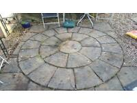 8 Foot Patio circle,with a squaring off kit.Offers can deliver and can lay for a fee.