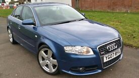 Audi A4 2.0 S Line 4dr Automatic, Half Suede leather, FSH, Great Condition, Warranty