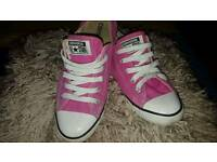 Pink all star trainers
