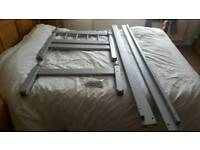 Small Grey Painted Pine Bedframe