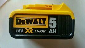 Dewalt xr 5 amp 18v battery brand new
