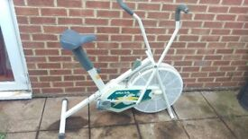 Simple white exercise bike