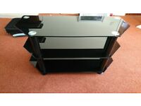 Black glass 3 tier stand for sale