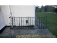 Gates - wrought iron - 1 x large 1 x small