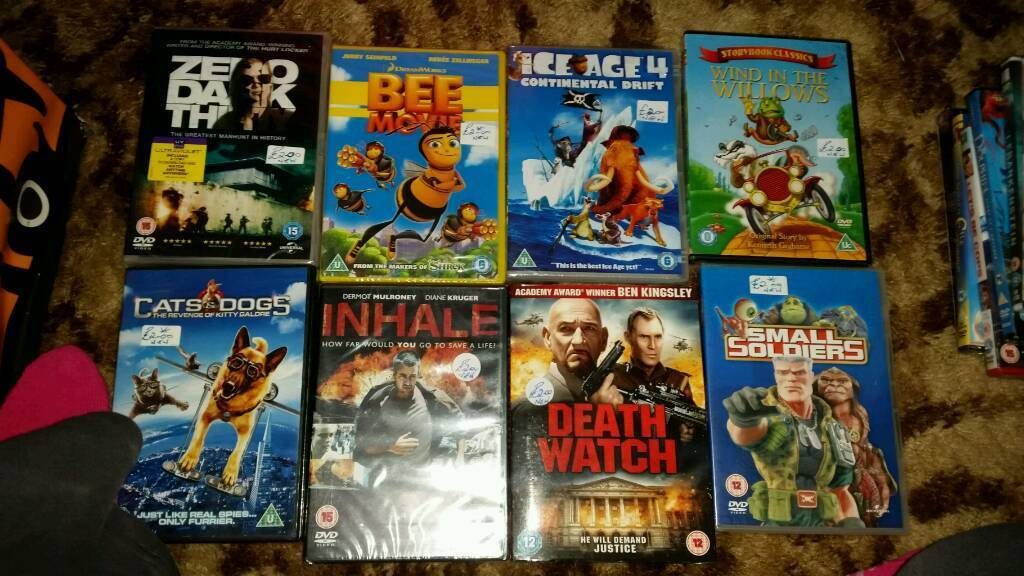 NEW AND SEALED DVDS £1 EACH