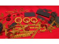 Antique Vintage Retro Meccano Metal Pieces Job Lot Made In France