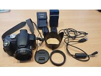 PANASONIC LUMIX DMC-FZ18 ; 18x OPTICAL ZOOM; 8.1MP; DSLR STYLE WITH CASE + HOOD +2 CHARGERS