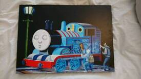 Unique thomas the tank canvas