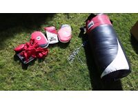 Lonsdale punch bag with extras