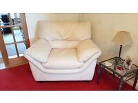 Natuzzi cream leather armchair