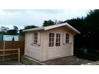 Garden building , Log cabin , summer house ( 13 x 10 ft x 28 mm )