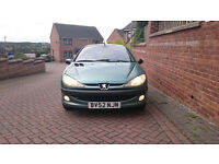 Peugeot 206 1.1 - 3 Months MOT (Spares or Repairs) - Still Drives