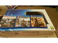 500gb Ps4 with 3 games