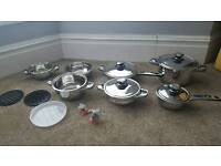 16 pieces high quality stainless steel kitchen/ cookware set - induction