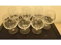 7 Stuart Crystal Glasses