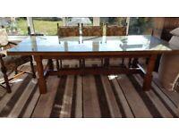 Beautiful Large Oak Dining Table