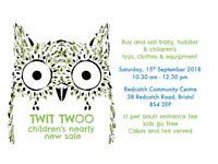 Twit Twoo children's nearly new sale, Bristol