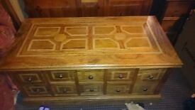 Antique Apothecary Chest 4ft wide by just under 2ft deep £295 ono