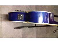 Eastcoast Mini Jumbo Electro Acoustic in Transparent Blue