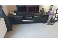 BLACK HIGH GLOSS TV CABINET IKEA £200 NEW