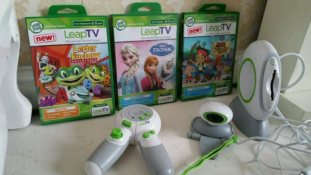 Leap tv console and 3 games