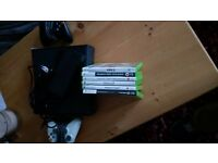Xbox 360, 2 controllers and 6 games