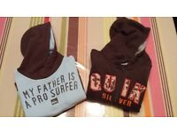 Quicksilver hoodies x2 for boy age 3