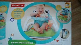 FISHER-PRICE SIT ME UP FLOOR SEAT - HARDLY USED
