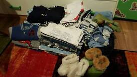 baby boy clothes boundle size 3-6 and bigger 0-3