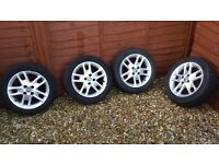 fiat punto sporting alloys and tyres