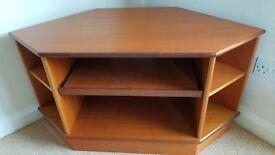 Corner Teak TV Stand in very good condition