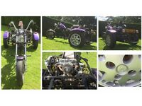 Custom Trike (1100cc mini engine) project (road legal, Q reg)