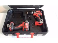Milwaukee 18volt brushless drill and impact driver, no batteries or charger