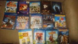 14 Blu Ray and Dvd bundle