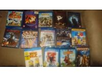 14 Blu Ray and Dvd bundle