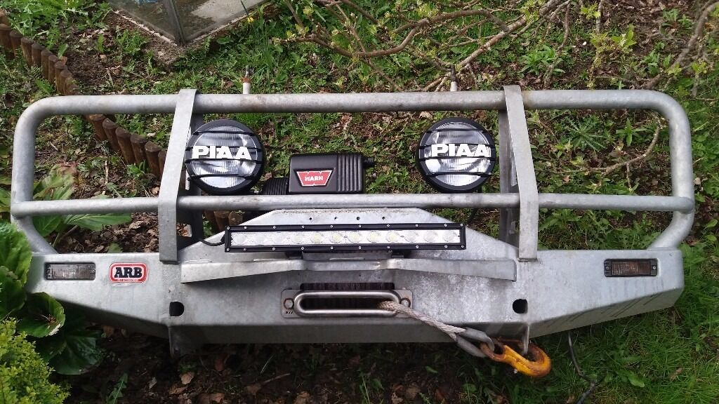 Arb Land Rover Defender Winch Bumper With Warn 8274 Winch In Blairgowrie Perth And Kinross