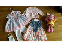 0-3 month baby girl clothing bundle