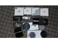 2 x Lenses PANAGOR and COSINON, 4 x HOYA filters, RGB wide lens adaptor, watameter