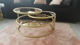 Vintage swivel coffee table
