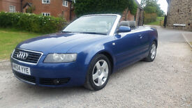 2004 AUDI A4 2.4 V6 CABRIOLET - STUNNING EXAMPLE - TWO LADY OWNERS LAST 8 YEARS